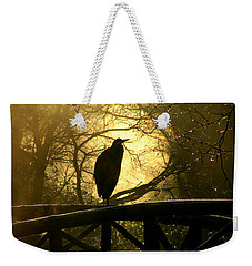 Great Blue Heron Silhouette Weekender Tote Bag