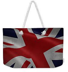 Great Britains Flag Waving On Canvas Weekender Tote Bag