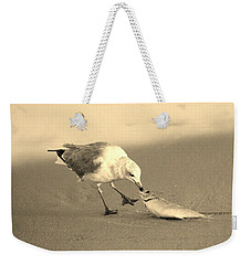 Weekender Tote Bag featuring the photograph Great Catch With Fish by Cynthia Guinn
