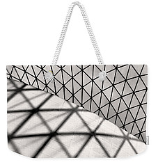 Weekender Tote Bag featuring the photograph Great Court Abstract by Rona Black