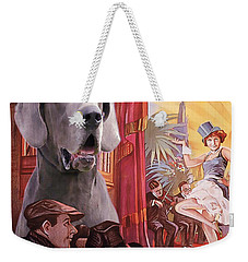 Great Dane Art Canvas Print - Der Blaue Engel Movie Poster Weekender Tote Bag