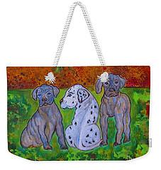 Great Dane Pups Weekender Tote Bag