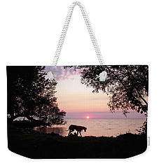 Great Dane Sunset Weekender Tote Bag by Aimee L Maher Photography and Art Visit ALMGallerydotcom