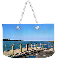 Weekender Tote Bag featuring the photograph Great Day For Fishing In The Marsh by Amazing Photographs AKA Christian Wilson