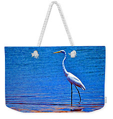 Weekender Tote Bag featuring the photograph Great Egret by Ludwig Keck