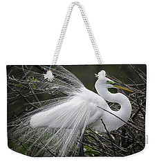 Great Egret Preening Weekender Tote Bag