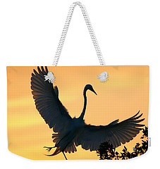 Great Egret Sunset Ballet Weekender Tote Bag