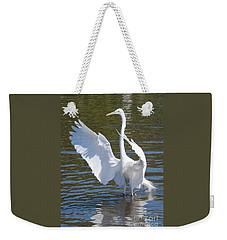 Great Egret Symphony Weekender Tote Bag by Carol Groenen