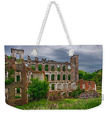 Great Falls Mill Ruins Weekender Tote Bag by Priscilla Burgers