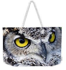Great Horned Closeup Weekender Tote Bag