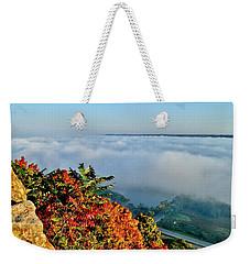 Great River Road Fog Weekender Tote Bag