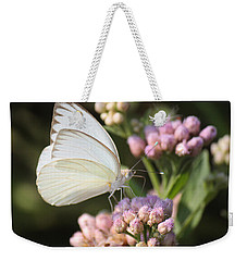 Great Southern White Butterfly On Pink Flowers Weekender Tote Bag