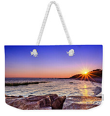 Weekender Tote Bag featuring the photograph Saints Landing Cape Cod by Mike Ste Marie