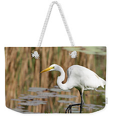 Great White Egret By The River Weekender Tote Bag