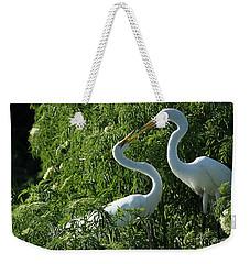 Great White Egret Lovers Weekender Tote Bag by Sabrina L Ryan
