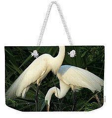 Great White Egret Mates Weekender Tote Bag
