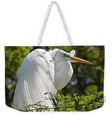 Great White Egret On Nest Weekender Tote Bag