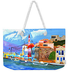 Greek Coast Weekender Tote Bag