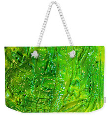 Green Abstract Painting  Weekender Tote Bag