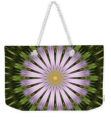 Green And Purple Starburst Weekender Tote Bag