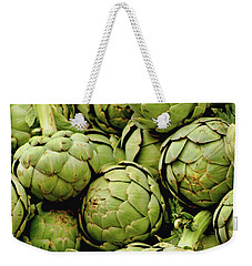 Green Artichokes Weekender Tote Bag by Art Block Collections
