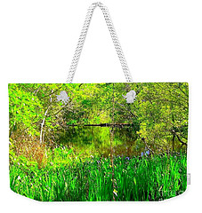 Weekender Tote Bag featuring the photograph Green As Emerald's by Michael Hoard
