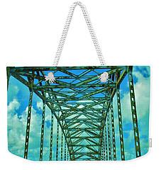 Green Bridge Weekender Tote Bag