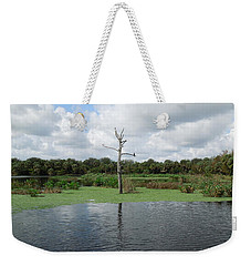 Weekender Tote Bag featuring the photograph Green Cay Panorama by Ron Davidson