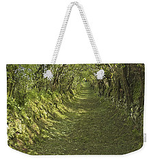 Weekender Tote Bag featuring the photograph Green Country Lane by Jane McIlroy