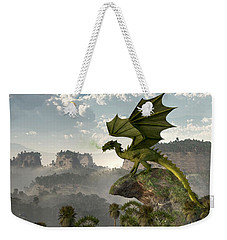Green Dragon Weekender Tote Bag