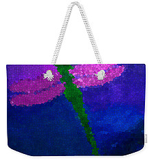 Green Dragonfly Weekender Tote Bag by Anita Lewis