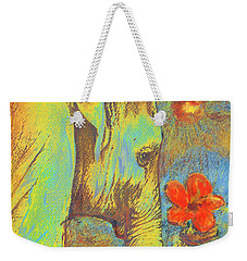 Green Elephant Weekender Tote Bag by Jane Schnetlage
