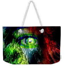 Green Eyed Weekender Tote Bag by Tlynn Brentnall