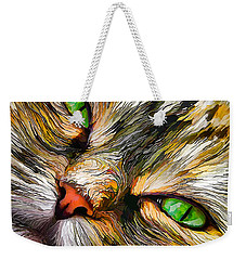 Green-eyed Tortie Weekender Tote Bag
