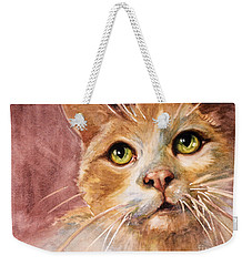 Green Eyes Weekender Tote Bag by Judith Levins