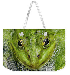 Green Frog Weekender Tote Bag by Matthias Hauser