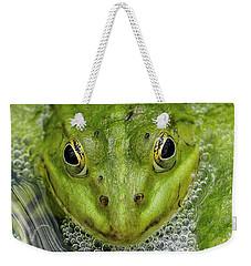 Green Frog Weekender Tote Bag