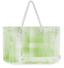 Weekender Tote Bag featuring the digital art Green Ghost City by Kevin McLaughlin