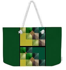 Green Glow Check Weekender Tote Bag