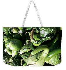 Green Goosenecks Weekender Tote Bag