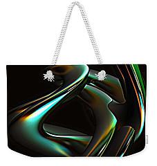 Weekender Tote Bag featuring the digital art Twisted Steel by Greg Moores