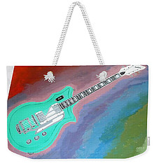 Green Guitar Weekender Tote Bag