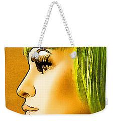 Green Hair Weekender Tote Bag