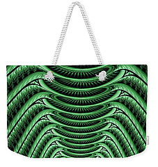 Weekender Tote Bag featuring the digital art Green Hall by Anastasiya Malakhova