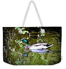 Green Head Mallard Weekender Tote Bag