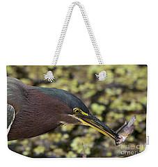 Green Heron Fishing Weekender Tote Bag