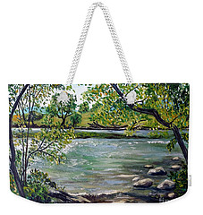 Green Hill Park On The Roanoke River Weekender Tote Bag