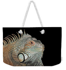 Green Iguana  Weekender Tote Bag by Judy Whitton