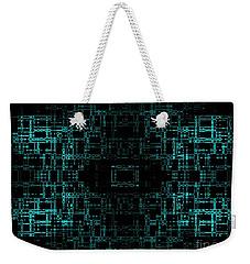 Green Network Weekender Tote Bag by Anita Lewis