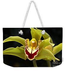 Green Orchid Flower Weekender Tote Bag
